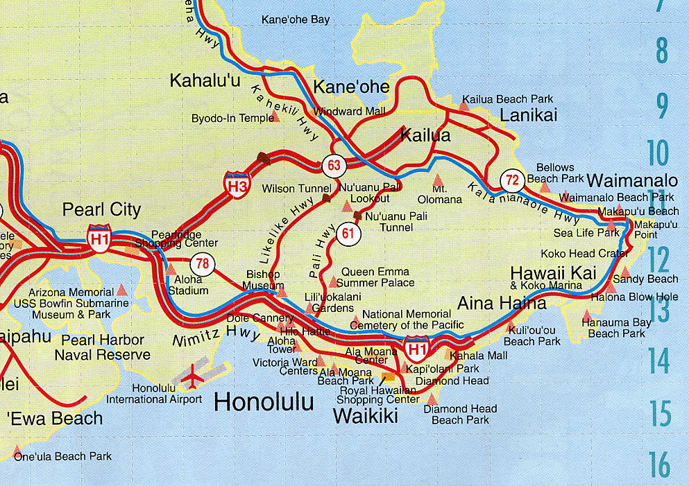 Map Of Honolulu Image: Map of Honolulu, Oahu Map Of Honolulu